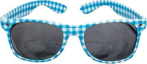 Brille, blau weiß kariert