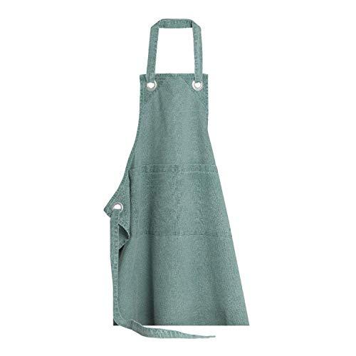 Winkler - Tablier de cuisine - Tablier de cuisine réglable - Tablier pour la cuisine - Tablier barbecue - Tablier 100% Coton - 80 x 85 - Vert De Gris Vert - Cookin