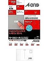 (まとめ買い) エーワン ニュースタンダードラベルA4 200面 72200 【×5】 + 画材屋ドットコム ポストカードA
