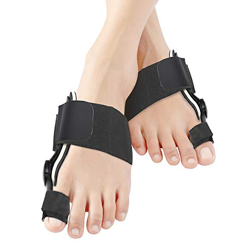 Bunion Corrector Bunion Pain Relief - Bunion Splints Big Toe Straightener for Tailors Bunion and Hallux Valgus Big Bone Orthotics Toe Separators (Black)