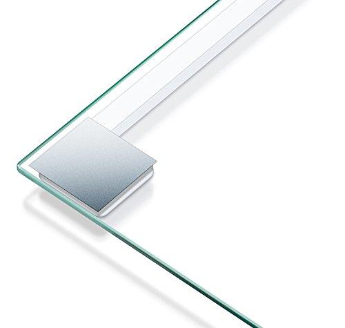 Beurer GS 14 - Báscula de baño de vidrio, vidrio de seguridad, apagado automático, puesta en marcha con sensor vibración, 150 kg / 100 gr, color transparente