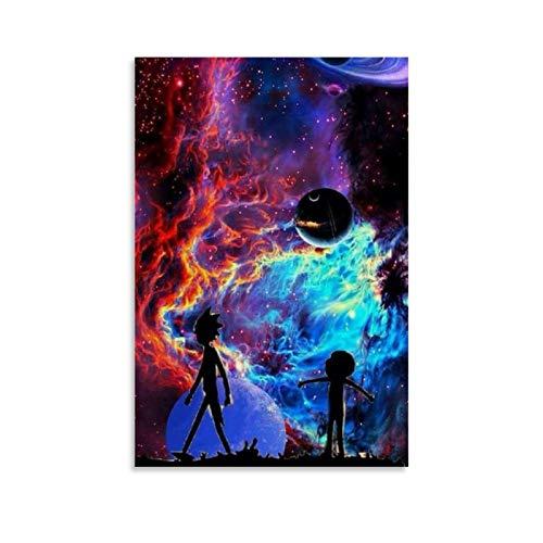 KEMS Mejor Rick y Morty Fondos Fantasía Espacio Ficcional Espacio Heterodimensional Space Poster Pintura Decorativa Lienzo de Pared Arte de Sala de estar Carteles Dormitorio Pintura 20x30cm