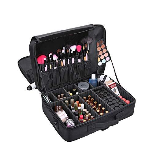 Maquillage cas en nylon beauté ongles art cosmétiques boîte vanité, organisateur de maquillage cosmétique portable sac de rangement artiste cosmétique