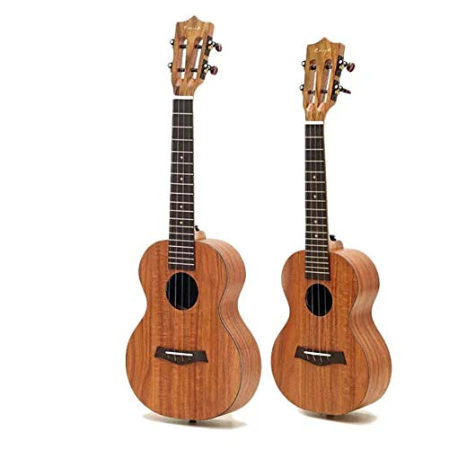 NEHARO Guitarra eléctrica 1PCS 23/26 Pulgadas Hawaii Guitarra Tenor del Concierto Koa Ukulele con Clásica Cabeza de Fibra de Carbono palillo de Hawaii Acacia Koa (Color : As Shown, tamaño : 26inch)
