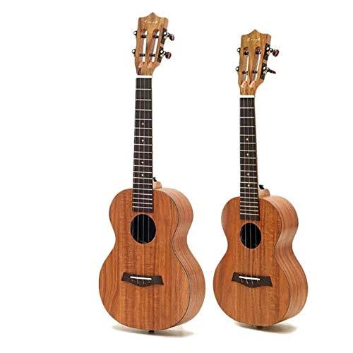 NEHARO Guitarra eléctrica 1PCS 23/26 Pulgadas Hawaii Guitarra Tenor del Concierto Koa Ukulele con Clásica Cabeza de Fibra de Carbono palillo de Hawaii Acacia Koa (Color : As Shown, tamaño : 23inch)