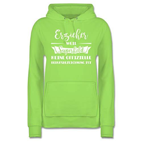 Sonstige Berufe - Erzieher Weil Superheld Keine offizielle Berufsbezeichnung ist - M - Limonengrün - Erzieher Hoodie - JH001F - Damen Hoodie und Kapuzenpullover für Frauen