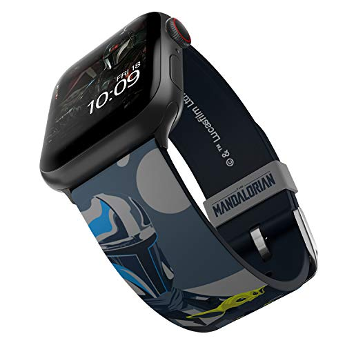 Star Wars: The Mandalorian - Beskar Armor Smartwatch Band – Officially Licensed, Compatible with Apple Watch (not included) – Fits 38mm, 40mm, 42mm and 44mm