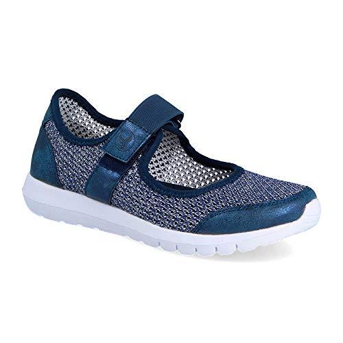 Zapatilla Sneaker Yumas Angelica Denim Fabricado en Plantilla para Mujer