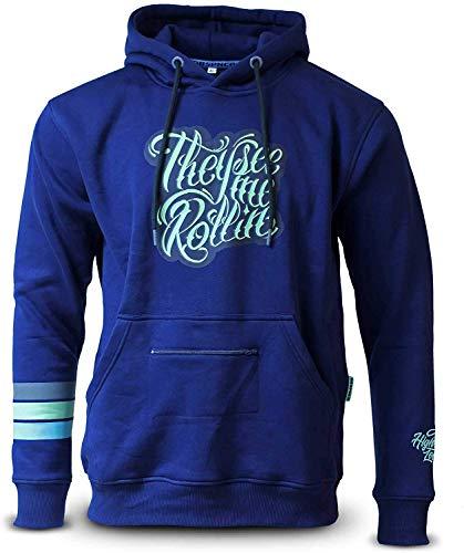 DUB SPENCER Premium Hoody Rollin & Hatin Kapuzenpullover für Sie & Ihn Automotive Apparel Clothing S-XXXL (S)