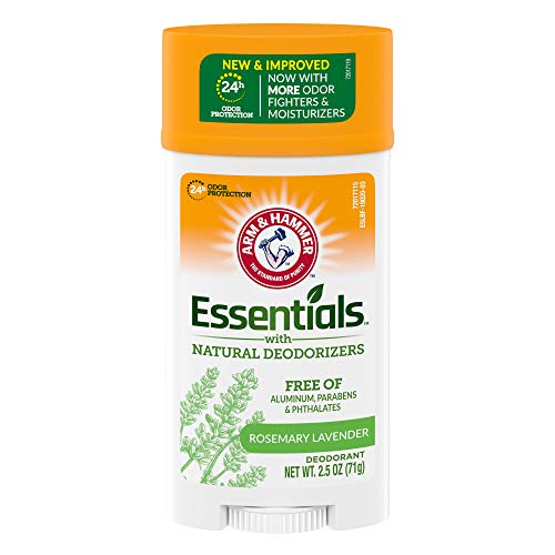 Arm & Hammer Essentials Deodorant with Natural Deodorizers, Wide Stick, Fresh 2.5 oz.(pack of 6)