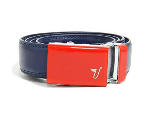Mission Belt Kid's Ratchet Belt - Kid Spidey - Red Buckle / Blue Leather, Large / Extra Large (27 - 28)