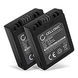 CELLONIC® 2X Batería de Repuesto CGA-S002e CGR-S002 DMW-BM7 per Panasonic Lumix DMC-FZ10, DMC-FZ20, DMC-FZ5, FZ1, FZ15, FZ2, FZ3, DMC-FC20, 700mAh, Accu Sustitución Camara, Battery