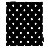 Moslion 53Polka Dot Soft Throw Blanket 30x40 Inch Vintage Black White Spot Doodle Polka Dot Blanket Flannel Warm Travel Blankets for Pet Dog Cat