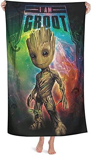 YOMOCO Groot Guardians of The Galaxy - Toalla de playa para hombres y mujeres, toalla de baño, microfibra, multiusos, secado rápido (Groot1,80 cm x 160 cm)