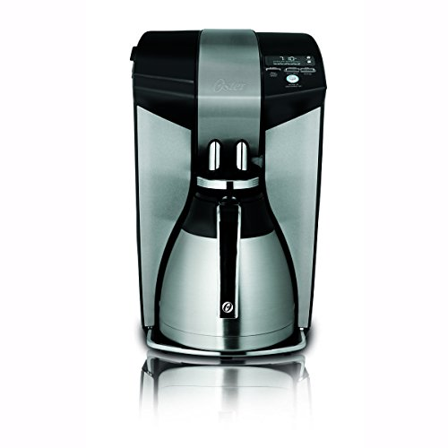 12 Cup Black/Brushed Stainless Steel Coffee Maker,...