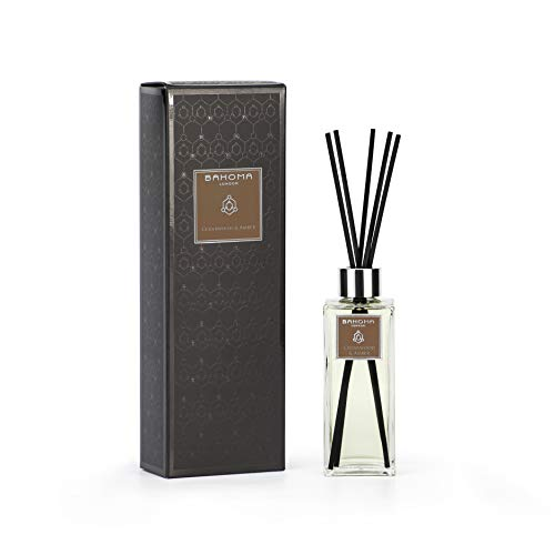 BAHOMA London Black Collection Fragranced Reed Diffuser 100ml : Cedarwood & Amber