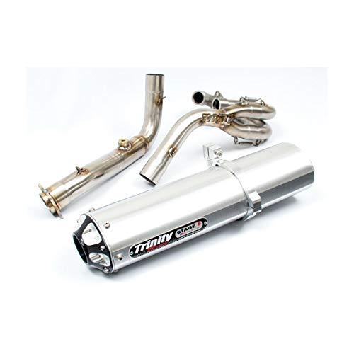 Trinity Stage 5 Full System Exhaust (Brushed Aluminum) for 06-14 Yamaha RAPTOR700