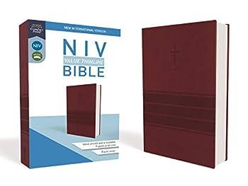 NIV Value Thinline Bible Leathersoft Burgundy Comfort Print