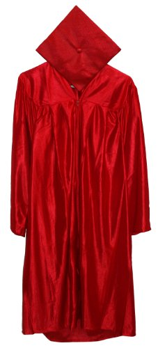 Economy Cap and Gown Shiny Finish Cap and Gown 5'6-5'8 Red