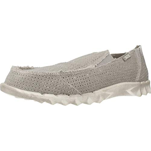 Farty Post Deporte Perforada Lona Gris Dude Shoes Hombres