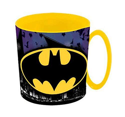 Theonoi Kunststoffbecher Tasse 350 ml wählbar: Cars Spiderman Paw Patrol Avengers Blaze Star Wars Superman - Becher Kunststoff BPA frei Mikrowelle geeignet Geschenk Jungen (Batman)