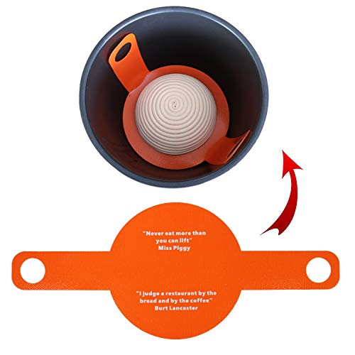 Bread Basics Silicone Baking Mat for Dutch Oven Bread Baking,Eco-Friendly Dough Drop/Dough Bread Sling Baking mat,Long Handles for Gentler, Safer & Easier Transfer of Dough