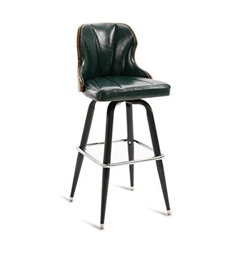 Chaise de Petit Déjeuner Hautes Chaises de barre de fer cuisine petit déjeuner salle à manger chaise style rétro haute chaise de comptoir haut tabouret de bar arrière pour la famille et les affaires -
