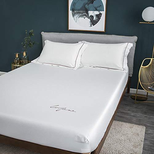 CYYyang Funda de Colchón con Tratamiento Antiácaros y Transpirable Sábana de algodón Puro Color Puro-4_200 * 220cm