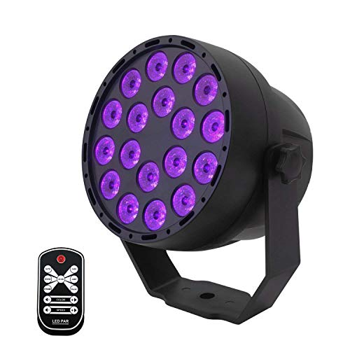 Lampe Lumière Noire UV Par LED DMX Projecteur Noir (Vltravio