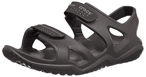 Crocs Men's Swiftwater River Sandal Fisherman, Black/Black, 10 M US