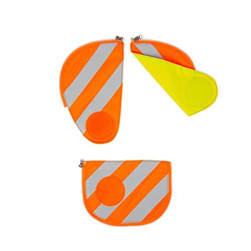 ergobag pack Sicherheitsset mit Reflektorstreifen - Sicherheitsset, 3-teilig - Orange - Orange