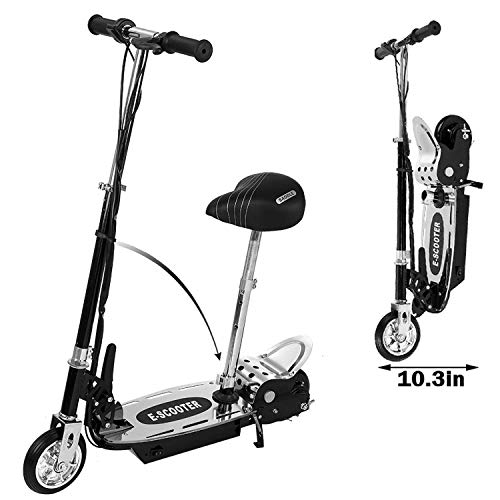 yiuk Youth/Adult Electric Scooter, Teens | Foldable,Adjustable Handlebar and Movable Seat, 177LB Max Load Max Speed of 10MPH