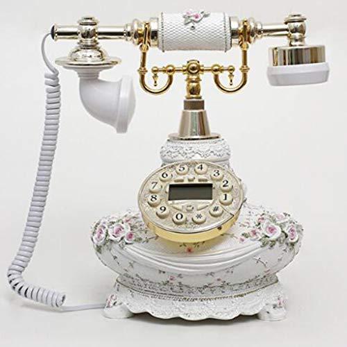 VERDELZ Teléfono Fijo Vintage con Cable Teléfono Fijo Sobremesa Función de Rellamada para Oficina Hogar