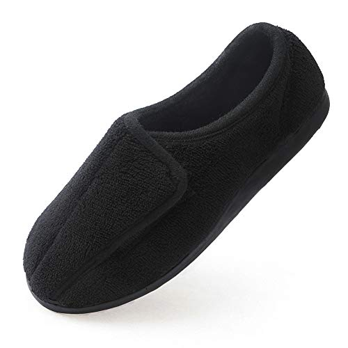 Git-up Women Memory Foam Diabetic Slippers Arthritis Edema Adjustable comfortable House Shoes Closed Toe11.