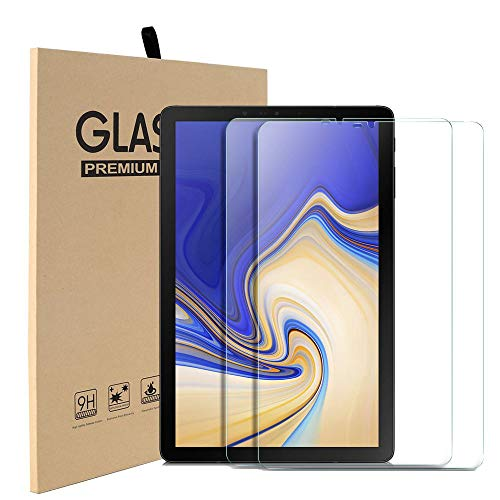 [2 Pack] MadeRy Screen Protector for Samsung Galaxy Tab S4 10.5 inch 2018 (SM-T830/T835), Clear High Definition Tempered Glass Film Compatible with Galaxy Tab S4 10.5 inch (2018)