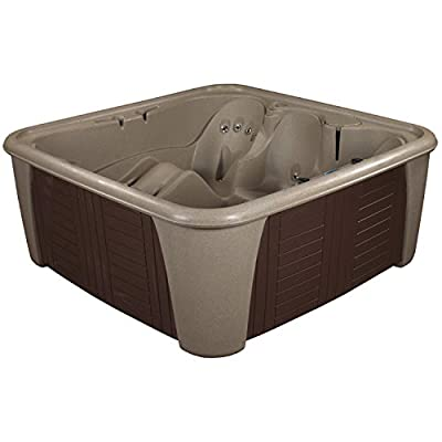Essential Hot Tubs 24-Jet Rainier Hot Tub, Seats 5-6, Cobblestone/Espresso