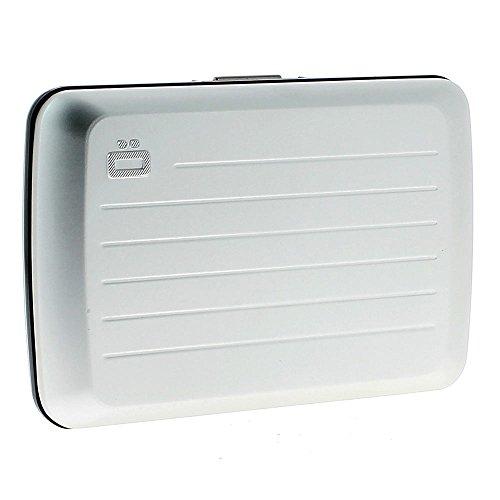 [オゴン/OGON] クレジットカードケース 名入れ刻印無料 フランス製 アルミ 防水 カードホルダー スキミング防止 メンズ (03.シルバー)