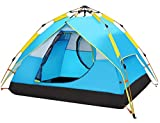 HEWOLF Automatic Camping Pop-up Tent 2-3 Person Instant Setup Hydraulic Tents Double Layer