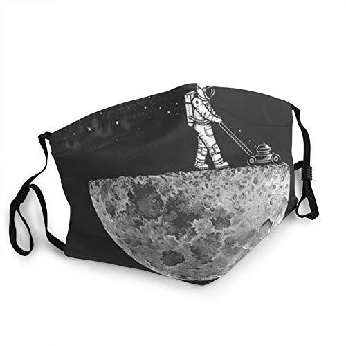 Black Spaceman Face M-A-S-K Bandanas de cara lavable con bolsillo para la cara pasamontañas tela reutilizable M-A-S-Ks ajustable con filtro