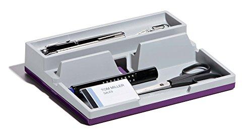 Durable 761312 Varicolor Smart Office Desk Organizer Aufbewahrungsbox (mit Smartphone- und Tablet-PC-Haltefunktion) 1 Stück opak, grau/lila