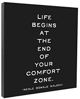 Life Begins At the End of Your Comfort zone Wall Canvas
