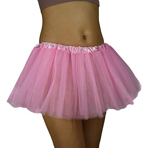 KICOFIT Tutu Skirt for Woman Girl Running (Pink)