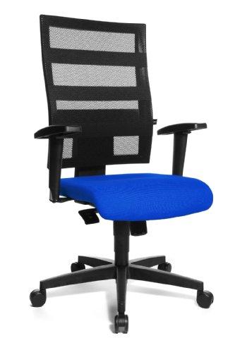 Topstar 950TT380 X-Pander Bureaustoel, zwart/blauw/zwart, ca. 48/48 cm.