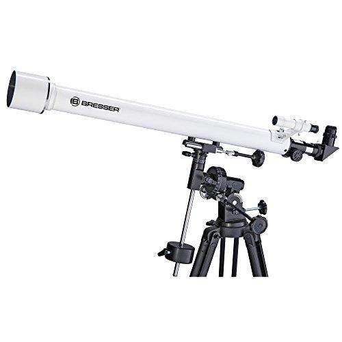 Bresser Optics Classic 60/900 EQ Refractor 338x Negro, Blanco - Telescopio (6,5 kg, Metal, Aluminio)