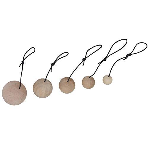 pedalo Kletterkugeln aus Holz - Trainingskugel und Kugelgriff für das Klettertraining (1 Stück Ø 80 mm)