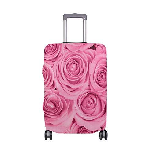ALINLO - Funda para equipaje con diseño de rosas de color rosa para maleta de viaje de 18-32 pulgadas