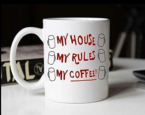 Mein Haus Meine Regeln Meine Kaffeetasse - Funny Knives Out Coffee Tea Mug Cup