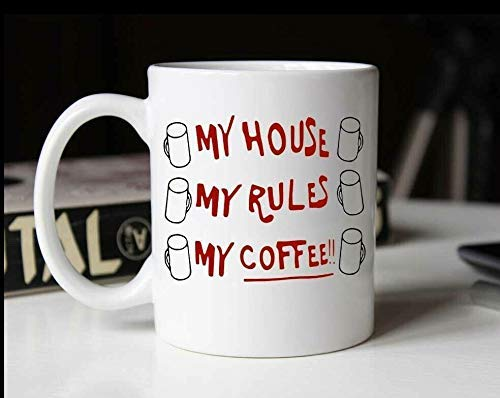 N\A Mein Haus Meine Regeln Meine Kaffeetasse - Funny Knives Out Coffee Tea Mug Cup
