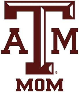 Texas A&M Aggies MOM Clear Vinyl Decal Car Truck Sticker aTm TAM