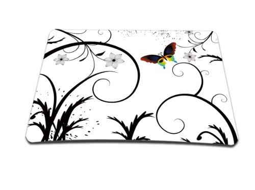 Luxburg® Design XL Gaming Mauspad Mousepad, Motiv: Schmetterling Weiß